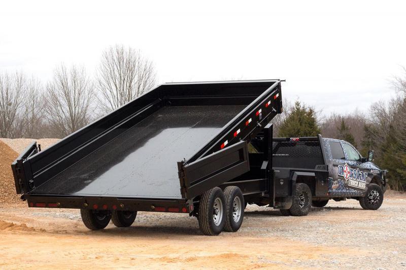 2019 Ironbull 8x18' Gooseneck Deckover Dump Trailer 16000# GVW * TARP KIT * I-BEAM FRAME * BED RUNNERS * FULL FRONT TOOLBOX * DUAL JACKS * FOLD DOWN SIDES * OVERSIZE 5x20 SCISSOR