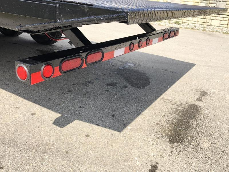 2020 Load Trail 102x28' Gooseneck Deckover Power Tilt Flatbed Trailer 14000# GVW * GE0228072 * SCISSOR * I-BEAM BEDFRAME * SIDE TOOLBOX * DUAL JACKS