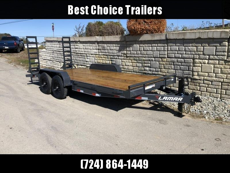2020 Lamar 7x18' Equipment Trailer 14000# GVW * Stand Up ramps