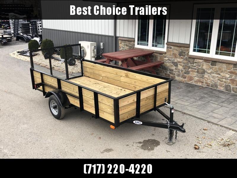 2020 AMO 5x10' Wood High Side Angle Iron Utility Landscape Trailer 2200# GVW