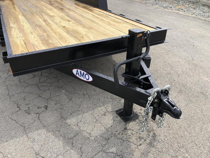 2020 AMO 7x16' Equipment Trailer 12000# GVW * STAND UP RAMPS * LED TAIL LIGHTS