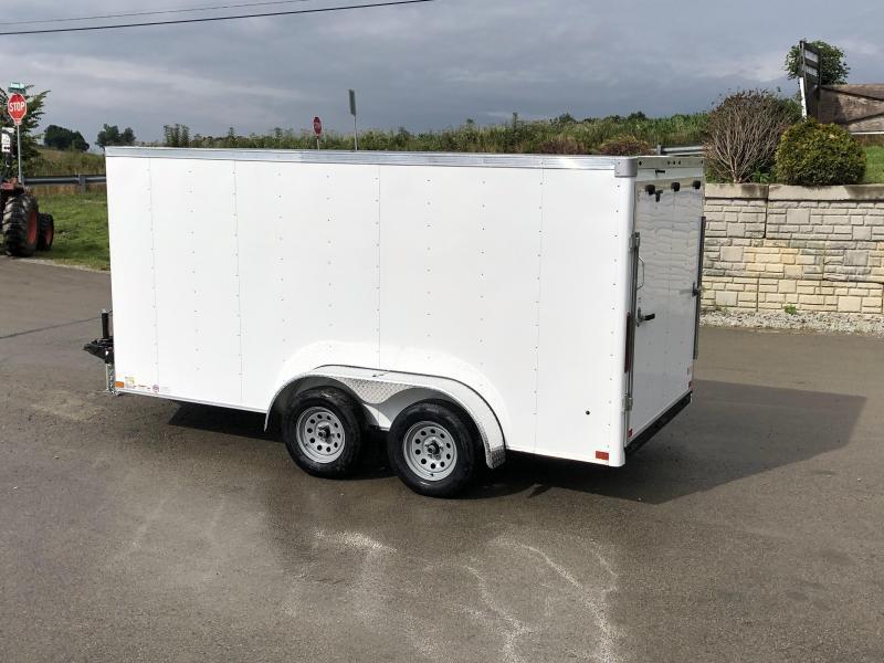 2019 Wells Cargo 7x16' Road Force Enclosed Cargo Trailer 7000# GVW * WHITE * RAMP DOOR * V-NOSE * .030 ALUM EXTERIOR * 1 PC ALUM ROOF * ARMOR GUARD