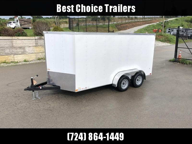 2019 Wells Cargo 7x16' Road Force Enclosed Cargo Trailer 7000# GVW * WHITE * RAMP DOOR * V-NOSE * .030 ALUM EXTERIOR * 1 PC ALUM ROOF * ARMOR GUARD * CLEARANCE