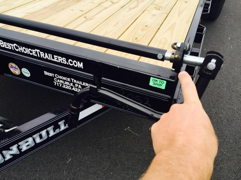 2019 Ironbull 7x20' Equipment Trailer 14000# GVW * RUBRAIL/STAKE POCKETS/PIPE SPOOLS/D-RINGS * ADJUSTABLE KNEE * KNIFEEDGE RAMP * REMOVABLE FENDERS * CLEARANCE