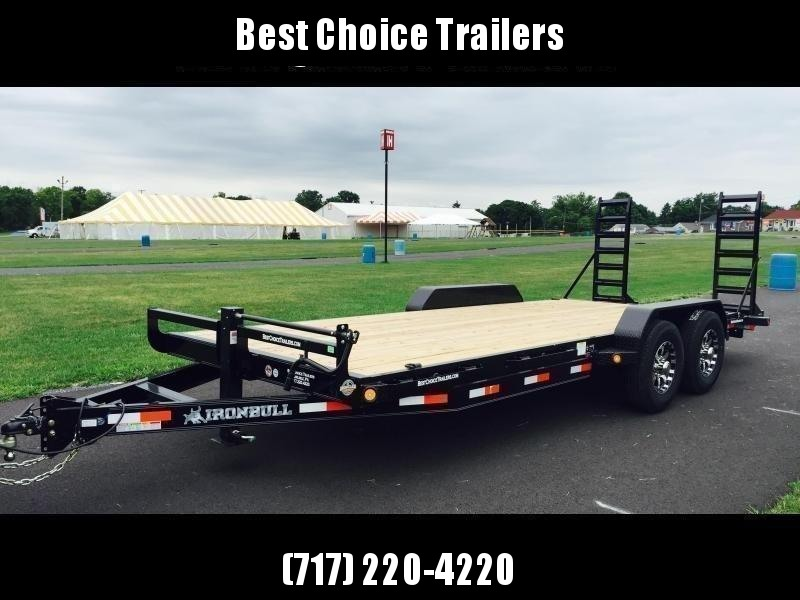 "2019 Ironbull 7x20' Equipment Trailer 14000# GVW * KNIFEEDGE RAMP W/ ADJUSTABLE SUPPORT * REMOVABLE FENDERS * 16"" O.C. STRUCTURAL CHANNEL C/M * RUBRAIL/STAKE POCKETS/PIPE SPOOLS/D-RINGS * ADJUSTABLE CAST COUPLER * 12K JACK * CLEARANCE"