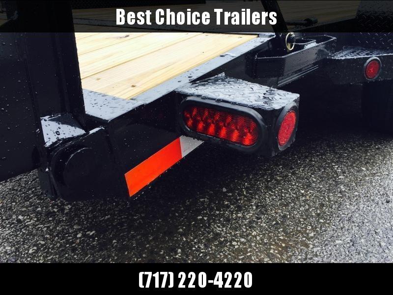 2019 Ironbull 7x20' Equipment Trailer 14000# GVW * RUBRAIL/STAKE POCKETS/PIPE SPOOLS/D-RINGS * ADJUSTABLE KNEE * KNIFEEDGE RAMP * REMOVABLE FENDERS
