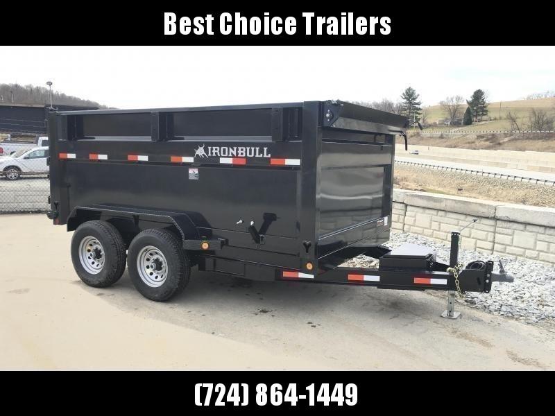 "2020 Ironbull 7x12' 4' HIGH SIDE Dump Trailer 14000# GVW RAMPS * CLEARANCE * RAMPS * TARP * SCISSOR * SPARE MOUNT * STACKED I-BEAM FRAME * 6"" BEDFRAME * 10GA BED & WALLS"