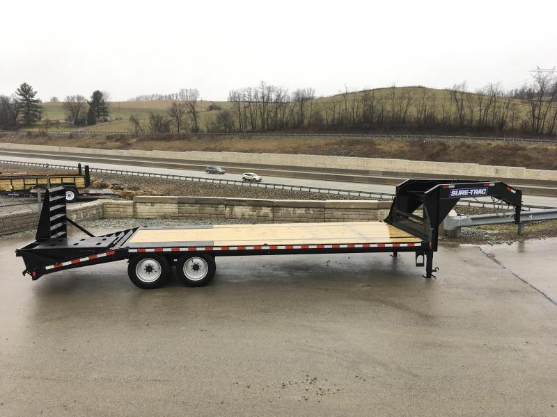 2020 Sure-Trac 102x20+5 17600# Gooseneck Beavertail Deckover Trailer * 8000# AXLE UPGRADE * PIERCED FRAME * FULL WIDTH RAMPS