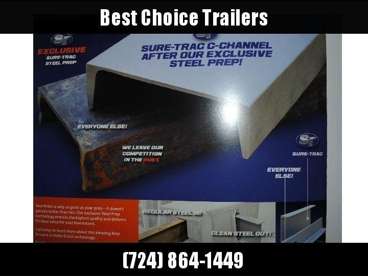 "2020 Sure-Trac 7x18 Tube Top Utility Landscape Trailer 9900# GVW * PROFESSIONAL LANDSCAPE SERIES * HD REINFORCED GATE * 5"" TONGUE & FRAME * 7K JACK * 2X3"" TUBE TOP RAIL"