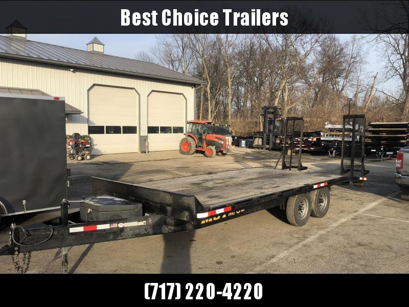 USED 2019 MCT 102x16+4 Beavertail Deckover Trailer 14000# GVW * TOOLBOX * ADJUSTABLE COUPLER * DROP LEG JACK