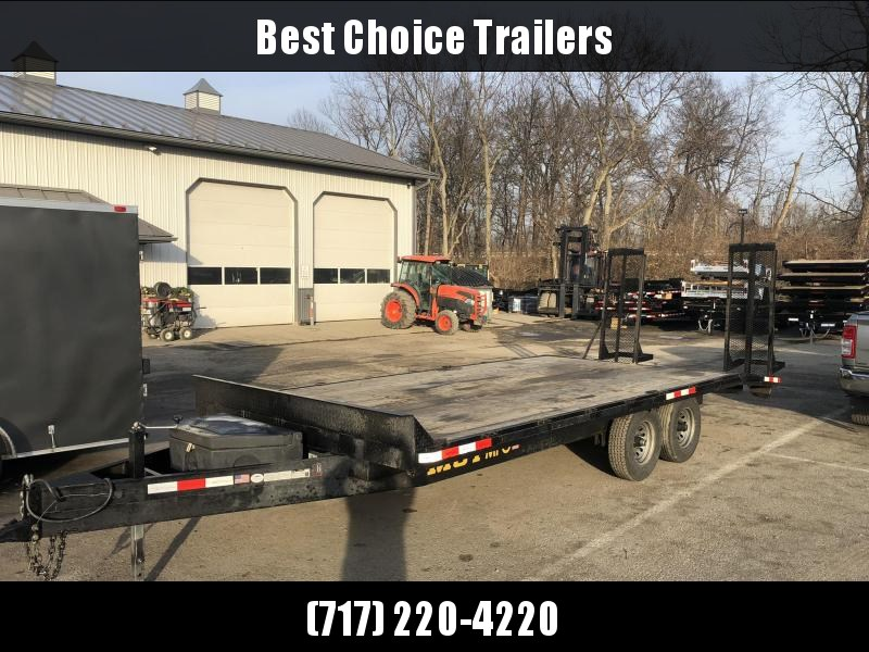 USED 2019 MCT 102x20 Beavertail Deckover Trailer 9990# GVW * TOOLBOX * ADJUSTABLE COUPLER * DROP LEG JACK