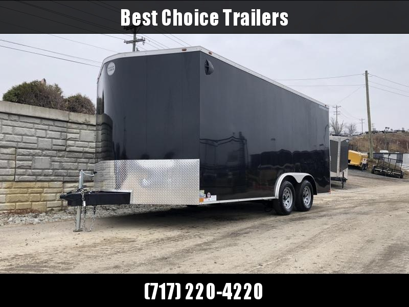 "2020 Wells Cargo 8.5x16' Road Force Enclosed Cargo Trailer 7000# GVW * BLACK EXTERIOR * RAMP DOOR * V-NOSE * SCREWLESS .030 EXTERIOR * 6'6"" HEIGHT * TUBE STUDS * 1 PC ROOF * 16"" O.C. WALLS/FLOOR * RV DOOR * ARMOR GUARD * TRIPLE TONGUE * TUBE FRAME"