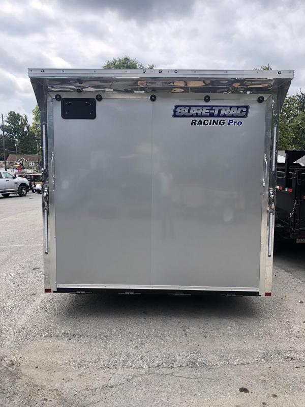 2020 Sure Trac Racing Pro Enclosed Car Hauler Trailer * STBNRP10224TA-100 * NEW MODEL * LOADED * FULL ESCAPE HATCH * SILVER