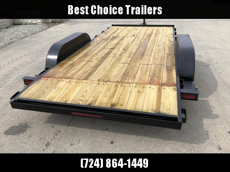2020 AMO 7x16' Wood Deck Car Trailer 7000# GVW * LED TAIL LIGHTS