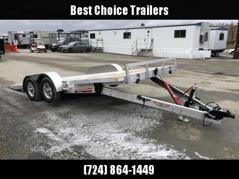 """2019 H&H 7x18' MXA Aluminum Manual Tilt Car Hauler Trailer 7000# GVW * 6"""" FRAME * REMOVABLE FENDERS"""