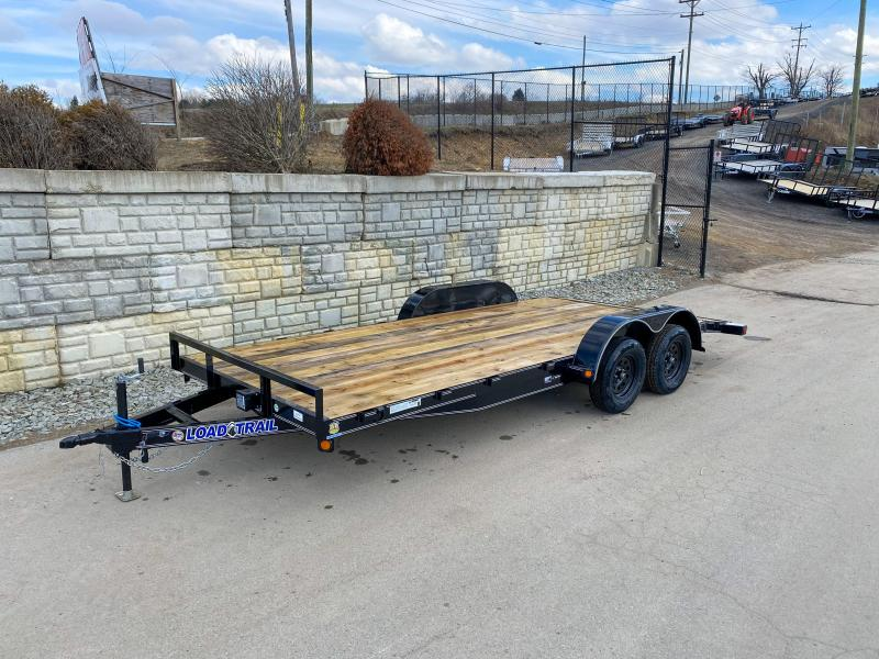"2020 Load Trail 7x18' Car Hauler Trailer 7000# GVW * CP8318032 * DEXTERS * POWDER PRIMER * 2-3-2 WARRANTY * 5"" TONGUE AND FRAME"