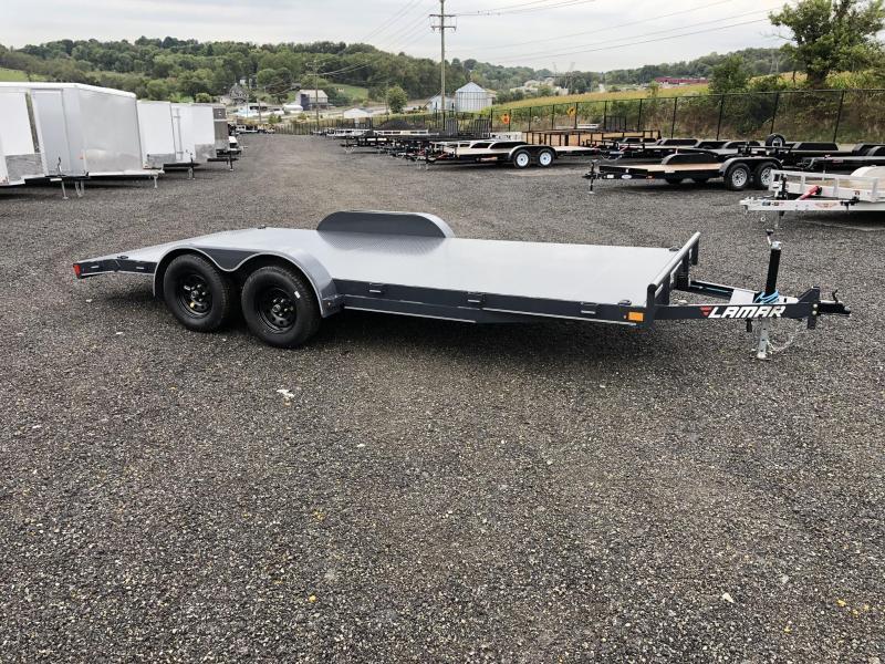 2020 Lamar 7x18' Steel Deck Car Trailer 7000# GVW * 11GA STEEL DECK * CHARCOAL