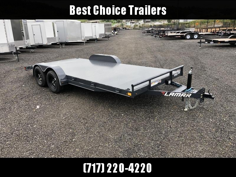 2020 Lamar 7x18' Steel Deck Car Trailer 7000# GVW * 11GA STEEL DECK * CHARCOAL