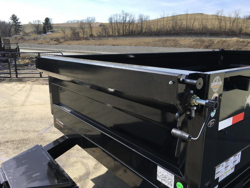 "2019 Ironbull 7x14' Dump Trailer 14000# GVW * RAMPS * TARP * SCISSOR * SPARE MOUNT * STACKED I-BEAM FRAME * 6"" BEDFRAME * 2PC 10GA BED & WALLS * CLEARANCE"