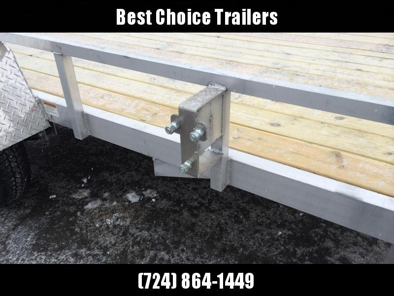 """2020 QSA 5x10' Aluminum Utility Landscape Trailer 2990# GVW * STANDARD MODEL * TUBE FRAME AND TONGUE * SPARE MOUNT * TIE DOWNS * 4' FOLD IN GATE * LED'S * FENDER GUSSETS * 3500# AXLE * 15"""" TIRES * TUBE TOP RAIL"""
