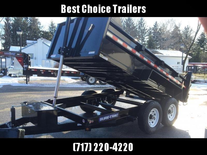 2020 Sure-Trac 7x14' LowPro HD Dump Trailer 14000# GVW - TELESCOPIC HOIST