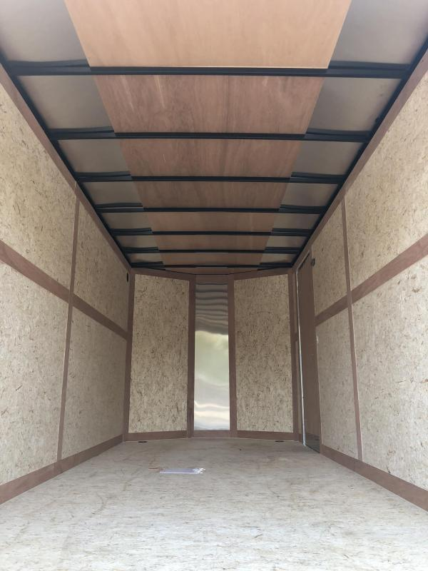 "2020 Wells Cargo 7x16' Fastrac DELUXE Enclosed Cargo Trailer 7000# GVW * WHITE * RAMP DOOR * V-NOSE * .030 * 1 PC ALUM ROOF * 6'6"" HEIGHT"