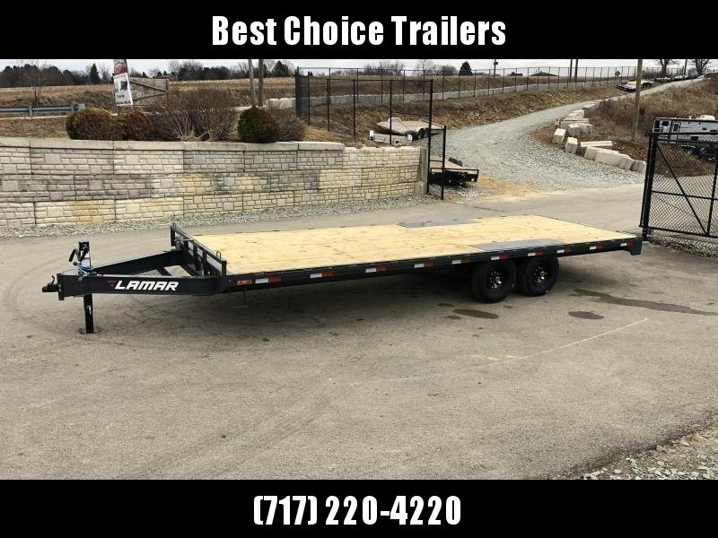 "2020 Lamar 102x20' Flatbed Deckover Trailer 14000# GVW * 8' SLIDE IN RAMPS * CHARCOAL * TOOL TRAY * HD CAST COUPLER * I-BEAM FRAME * 16"" O.C. C/M * RUBRAIL/STAKE POCKETS/PIPE SPOOLS * CHANNEL SIDE RAIL * 12K JACK"