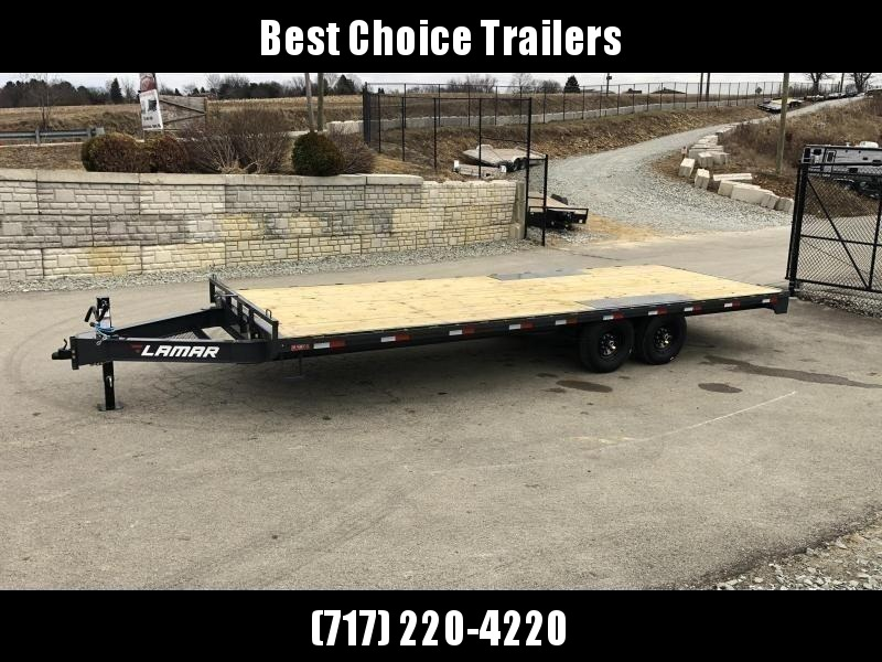 """2020 Lamar 102x20' Flatbed Deckover Trailer 14000# GVW * 8' SLIDE IN RAMPS * CHARCOAL * TOOL TRAY * HD CAST COUPLER * I-BEAM FRAME * 16"""" O.C. C/M * RUBRAIL/STAKE POCKETS/PIPE SPOOLS * CHANNEL SIDE RAIL * 12K JACK"""