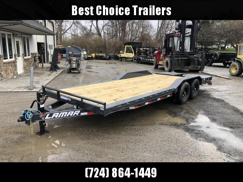 "2020 Lamar 102x22' Equipment Trailer 14000# GVW * FULL WIDTH RAMPS * CHARCOAL * 102"" DECK * DRIVE OVER FENDERS * CHARCOAL * D-RINGS"