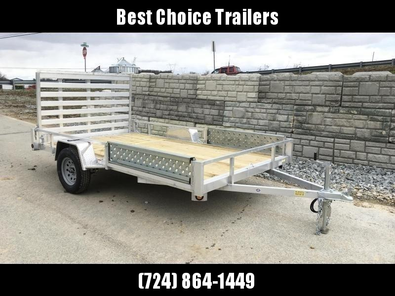 "2020 QSA 7x14' Aluminum ATV Utility Landscape Trailer 2990# GVW * ATV RAMPS * STANDARD MODEL * TUBE FRAME AND TONGUE * SPARE MOUNT * TIE DOWNS * 4' FOLD IN GATE * LED'S * FENDER GUSSETS * 3500# AXLE * 15"" TIRES * TUBE TOP RAIL"