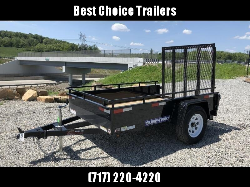 2020 Sure-Trac 5x8' Steel High Side Landscape Utility Trailer 2990# GVW