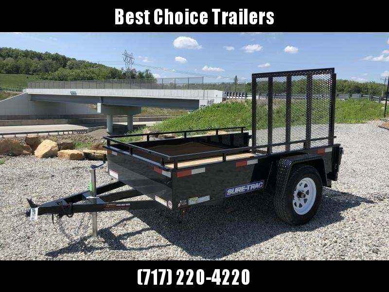 2020 Sure-Trac 5x8' Steel High Side Landscape Utility Trailer 2990# GVW