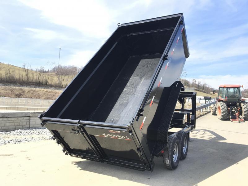 2018 Ironbull 7x16' Gooseneck Dump Trailer 14000# GVW - 4' HIGH SIDES * CLEARANCE
