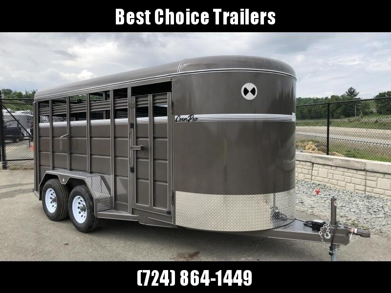 2018 CornPro 16' Livestock Trailer 7000# GVW * BEIGE * TORSION * CLEARANCE