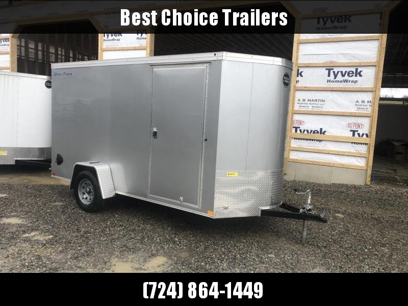 "2020 Wells Cargo 6x12' Road Force Enclosed Cargo Trailer 2990# GVW * SILVER EXTERIOR * RAMP DOOR * V-NOSE * SCREWLESS .030 EXTERIOR * 6'6"" HEIGHT * TUBE STUDS * 1 PC ROOF * 16"" O.C. C/M * ARMOR GUARD * RV DOOR * BULLET LED'S"