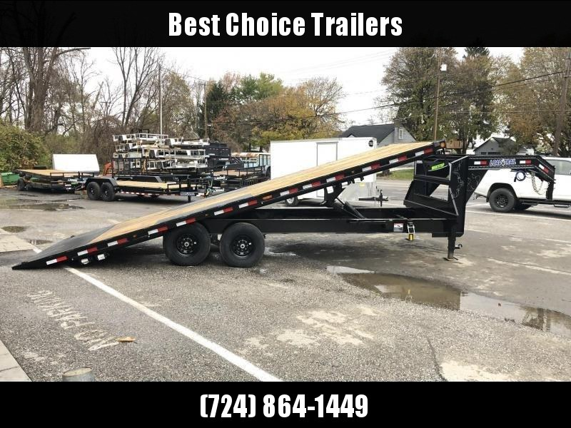 2020 Load Trail 102x28' Gooseneck Deckover Power Tilt Flatbed Trailer 14000# GVW * GE0228072 * SCISSOR * I-BEAM BEDFRAME * SIDE TOOLBOX * DUAL JACKS