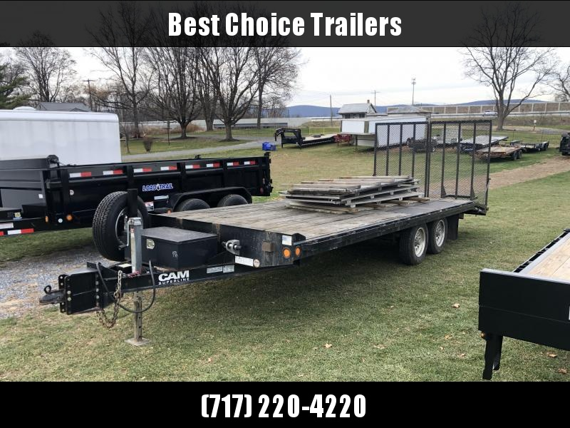 USED 2013 Cam Superline 102x20' Beavertail Deckover Trailer * SPLIT GATE * ALUMINUM WHEELS * TOOLBOX * SPARE