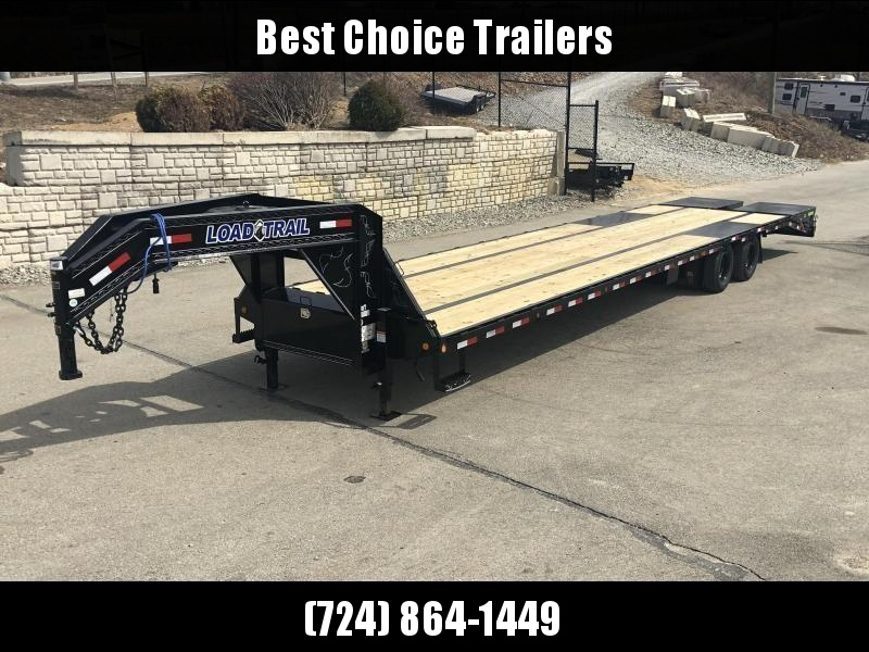 2019 Load Trail 102x40' Gooseneck Flatbed Deckover Trailer 25990# GVW * HOTSHOT TRAILER * 12K DEXTER AXLES * EOH DISC BRAKES * FULL WIDTH RAMPS * HDSS SUSPENSION * RATCHET TRACK/WINCHES * UNDER FRAME BRIDGE * TORQUE TUBE * PIERCED FRAME * CLEARANCE