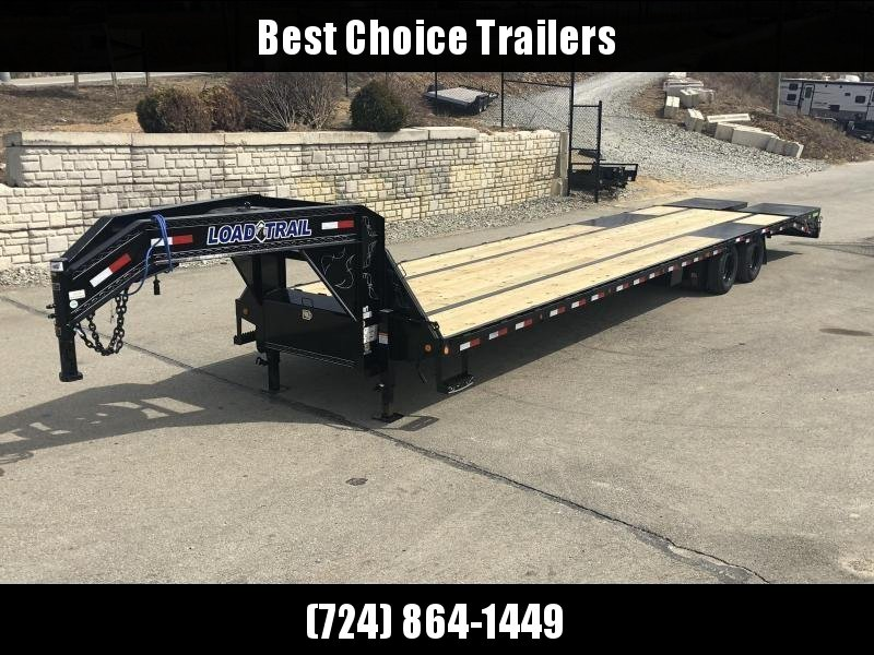 2019 Load Trail 102x40' HOTSHOT Gooseneck Beavertail Deckover Flatbed 24000# Trailer * EOH Disc Brakes * MAX Ramps * HDSS * Ratchet Track * Under frame bridge * Torque Tube * 12K Axles * CLEARANCE