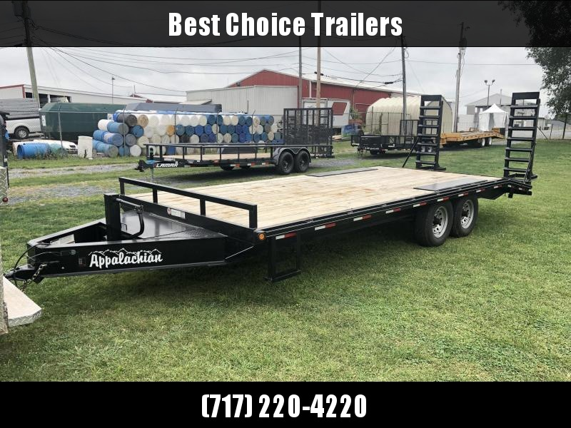 USED 2019 Appalachian 102x22' Beavertail Flatbed Deckover * I-BEAM FRAME * TOOLBOX * POP UP DOVETAIL