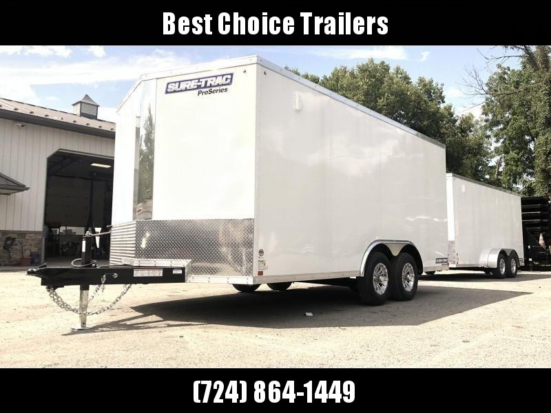 2020 Sure-Trac 8.5x16' Enclosed Cargo Trailer 9900# GVW * SILVER * CONTRACTOR/LANDSCAPER TRAILER