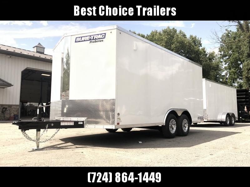2020 Sure-Trac 8.5x16' Enclosed Cargo Trailer 9900# GVW * SILVER * CONTRACTOR/LANDSCAPER TRAILER