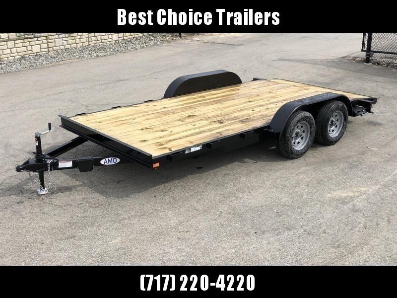 2019 AMO 7x18' Wood Deck Car Trailer 7000# GVW * LED TAIL LIGHTS