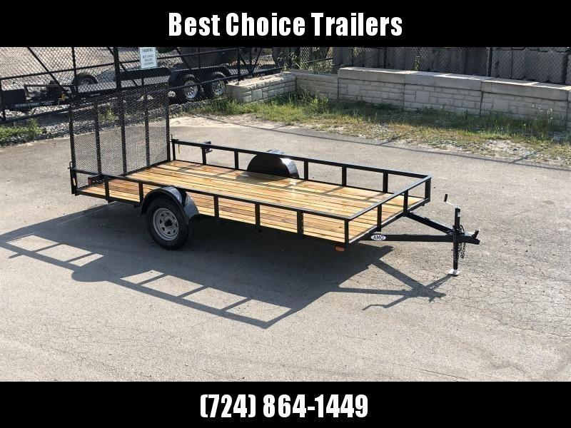 """2020 AMO 78x14' Utility Landscape Trailer 2990# GVW * 4' GATE * TOOLESS GATE REMOVAL * 3500# AXLE * 15"""" RADIAL TIRES"""