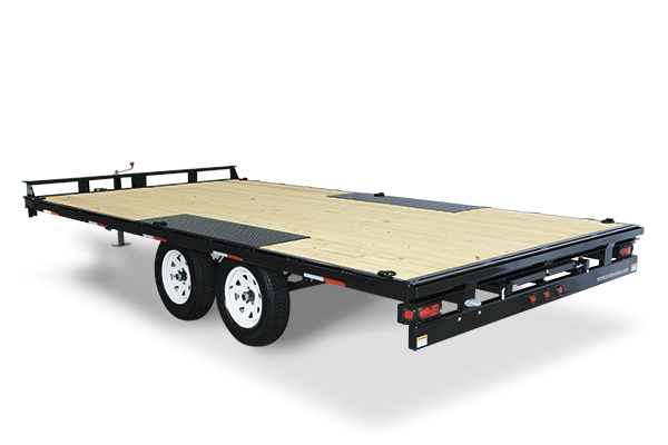 2020 Sure-Trac 102x20' LP Straight Deckover Trailer 9900#  - 8' SLIDE OUT RAMPS