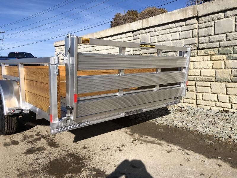 "2020 H&H 76x12' Aluminum Wood High Side Utility Landscape Trailer 2990# GVW * 2' HIGH SIDES * BI FOLD GATE * ALUMINUM WHEELS * TUBE TOP * TRIPLE TUBE TONGUE * TUBE TONGUE * SWIVEL JACKS * STAKE POCKETS * EXTENDED 54"" GATE"