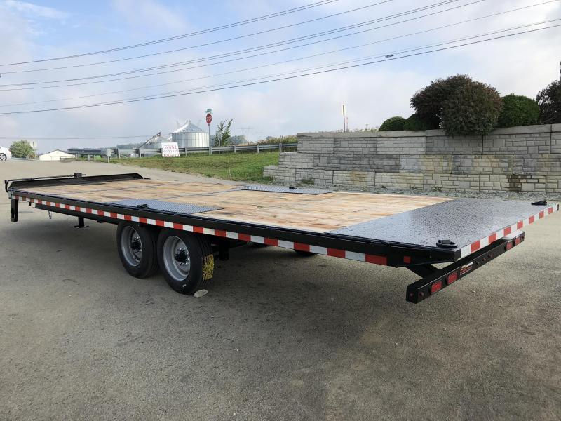 """2019 Sure-Trac 102x24' Power Tilt Deckover 17600# GVW * 8000# AXLES * 17.5"""" 16-PLY TIRES * WINCH PLATE * OAK DECK * 3 3/8"""" BRAKES * 4X4X1/4"""" TUBE BED RUNNERS * DUAL PISTON * 10"""" I-BEAM * RUBRAIL/STAKE POCKETS/PIPE SPOOLS/8 D-RINGS * CLEARANCE"""