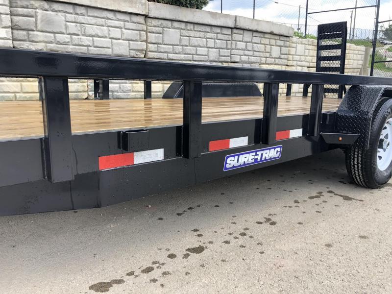 2019 Sure-Trac 7'x20' Heavy Duty Equipment Trailer 14000# GVW * NEW MODEL * HEAVY DUTY FEATURES * CLEARANCE