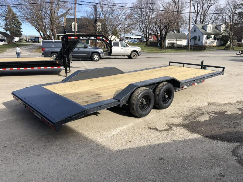 "2020 Lamar 102x22' Buggy Car Hauler Trailer 9990# GVW * 102"" DECK * DRIVE OVER FENDERS * CHARCOAL POWDERCOATING * 7K DROP LEG JACK * ADJUSTABLE COUPLER * RUBRAIL"