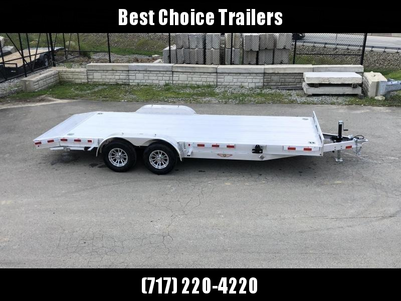 2018 H&H 7x20' Aluminum Car Hauler Trailer 9990# GVW * LOADED * EXTRUDED ALUMINUM FLOOR * TORSION AXLES * SWIVEL D-RINGS * EXTRA STAKE POCKETS * CLEARANCE